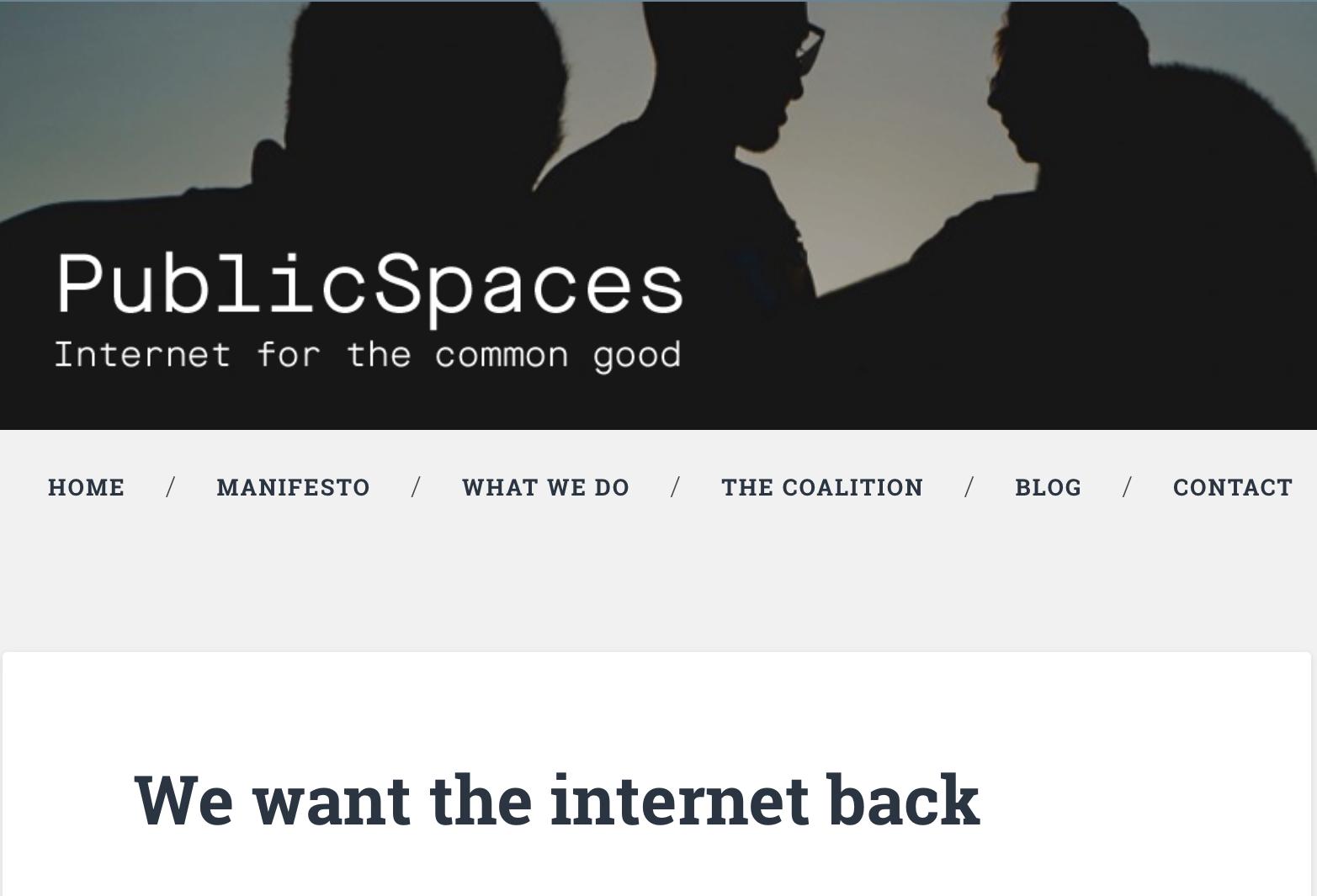 Hoe gaat PublicSpaces het internet terugwinnen?